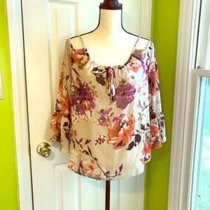 INC Floral Design Top